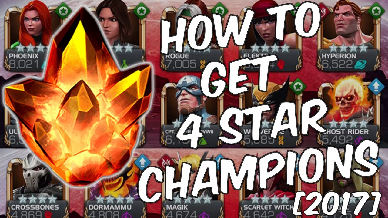 How To Get 4 Star Champions - 2017 Updated Farming Guide - Marvel Contest  Of Champions