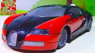 Машинки Распаковываем И Собираем Bugatti Veyron - Конструктор Для Мальчиков - Видео Для Детей