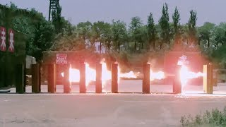 Armor piercing bullet penetrates ten pieces of steel plates within seconds