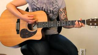 How to play Volcano by Damien Rice on guitar - Jen Trani