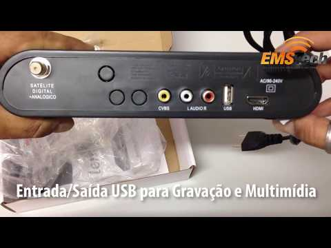Unboxing: Receptor Lemon LM-5000HD Analógico, Digital, HD e Rádios via Satélite
