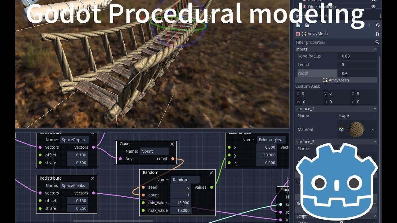 Timelapse - Procedural modeling in Godot