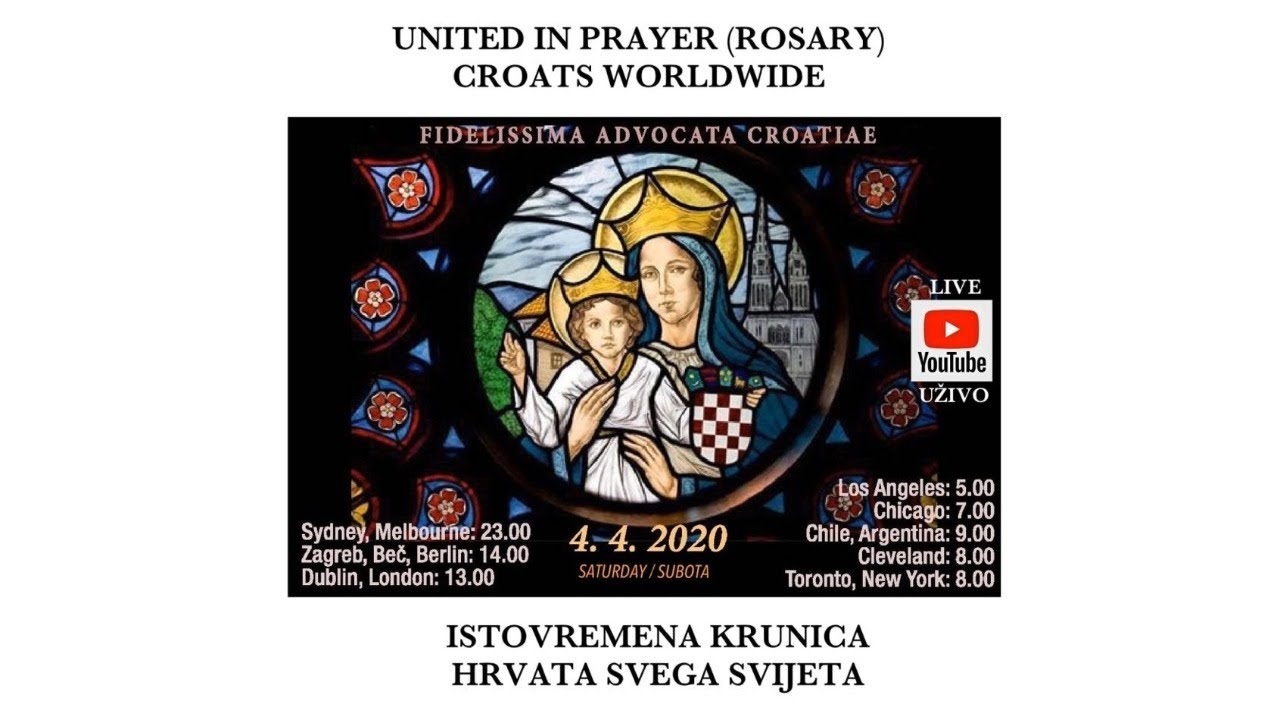 Video Thousands Of Croatians Around The World Pray The Rosary At The Same Time Croatia Week