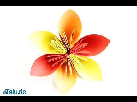 origami blume falten faltanleitung papierblume basteln youtube. Black Bedroom Furniture Sets. Home Design Ideas