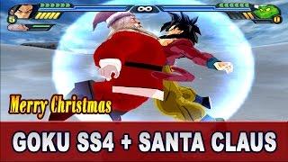 Goku SS4 and Santa Claus Fusion | Super Sainta SS4 Saves Christmas | DBZ Tenkaichi 3 (MOD)