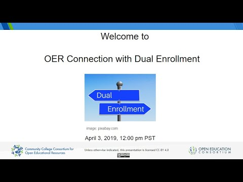 The OER Connection With Dual Enrollment
