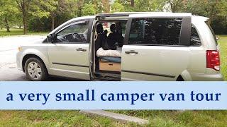 Finally, a tour of my very small, self built, minivan camper van