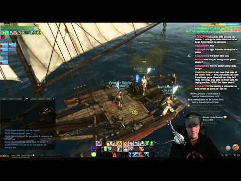 Archeage pirating: stealing a merchant ship.