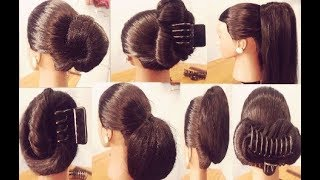 Easy & quick hairstyle using clutcher. ||  7  Hairstyles With Clutcher. || hair clutcher hairstyles