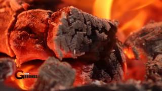 Burning Wood - Royalty Free Stock Footage Hd 1080p