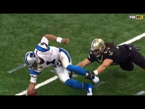 Cam Newton Gets Hit Hard | Panthers vs. Saints | NFC Wild Card Game | NFL