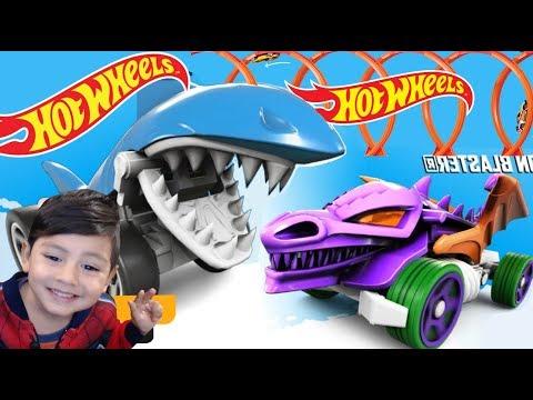 Hot Wheels Race Off   Coche Tiburon y Coche Dragon   Shark Bite & Dragon Blaster   Juegos para niños