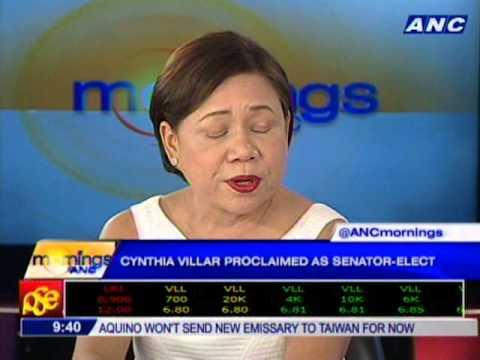 Senator-elect Cynthia Villar: My main thrust at the senate will be livelihood and jobs.