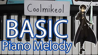 Basic Piano Melody: Sword Art Online - Crossing Field