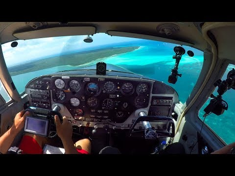 Tropical Island Flying! Beautiful + Painful - Smashed My Head In Strong Turbulence