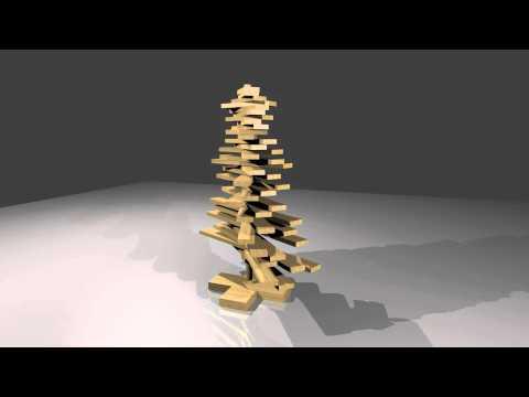 Bouwtekening Kerstboom Steigerhout.Steigerhouten Kerstboom Maken Bouwtekening Youtube