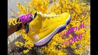 Custom Lakers Jordan 11 Shoes I Must Watch I Angelus Paint