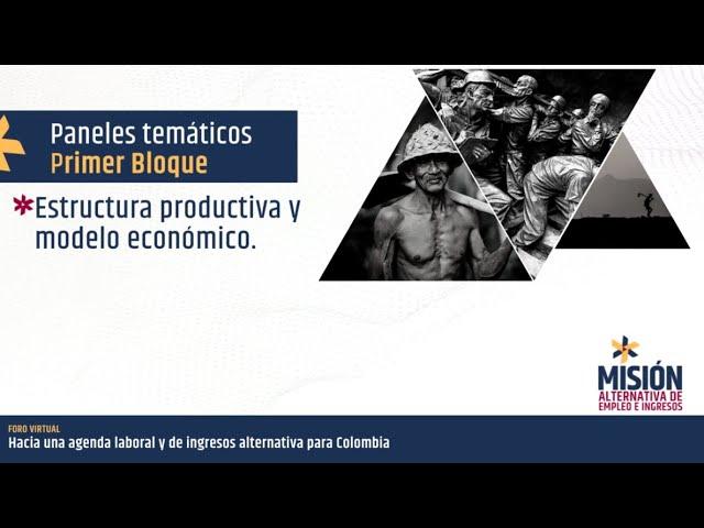 Panel estructura productiva y modelo económico
