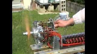 modélisme moteur 7 cylindres en étoile