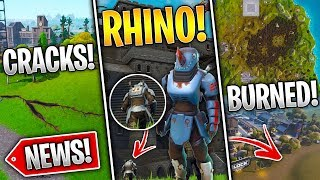 Fortnite News | Rhino Skin Soon, POI Burned, New Block, Earthquake Cracks & More!