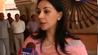 Jaipur Princess Diya Kumari giving wishes for Jantv