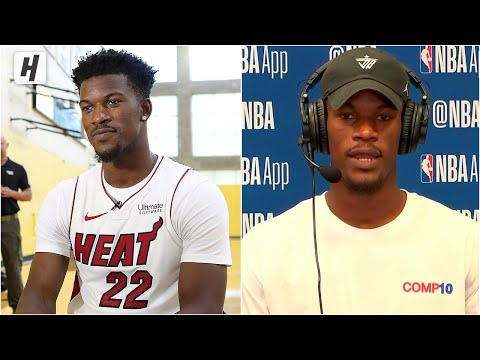 Jimmy Butler On Why He Signed With Miami Heat, Talks Dwyane Wade   2019 NBA Media Day