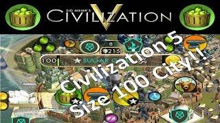 Civilization 5 - Size 100 City Highlights