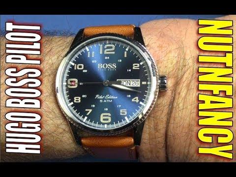 f539d35b3 Hugo Boss Pilot Watch- Nutnfancy - YouTube