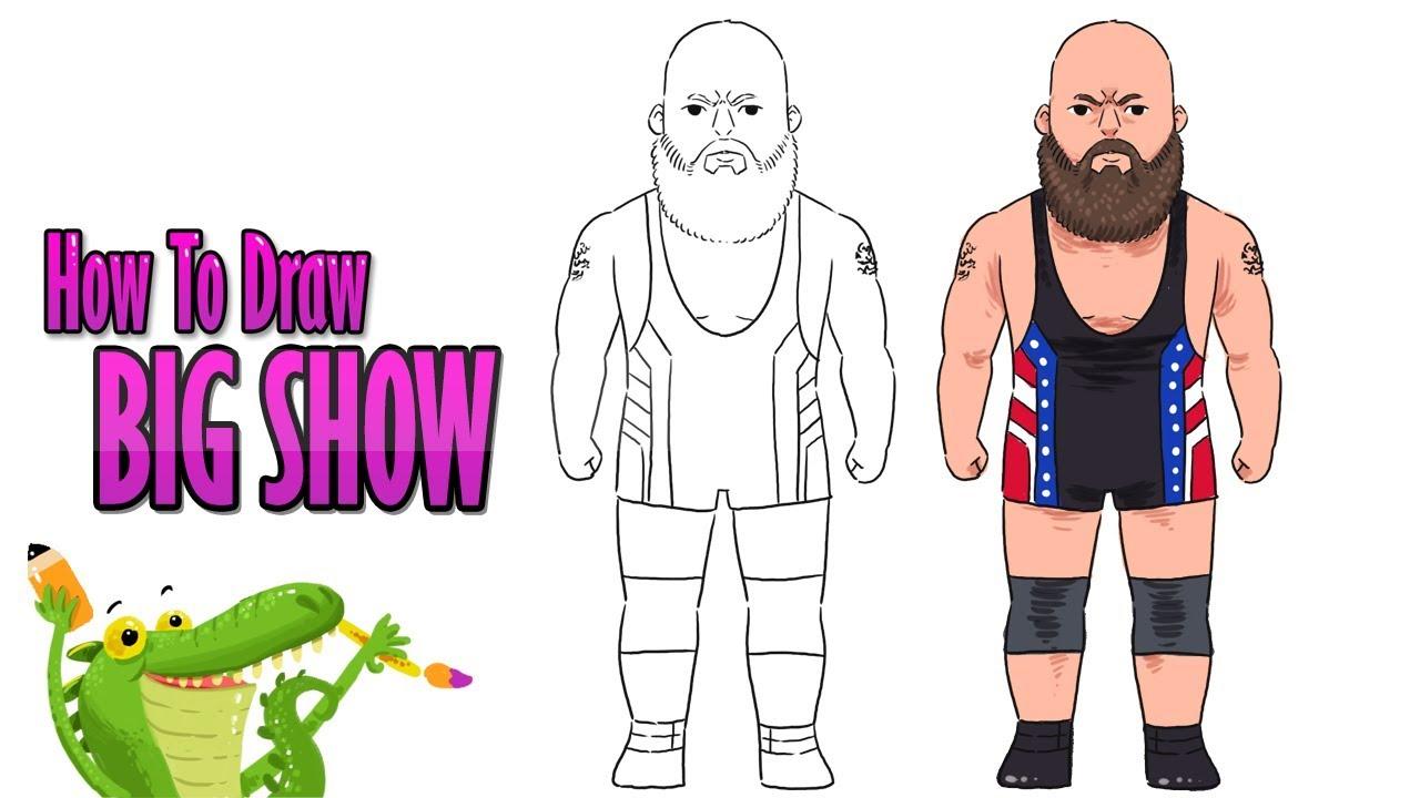 View Cartoon Wwe Wrestlers Drawing JPG