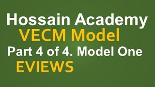 vecm model one part 4 of 4 eviews