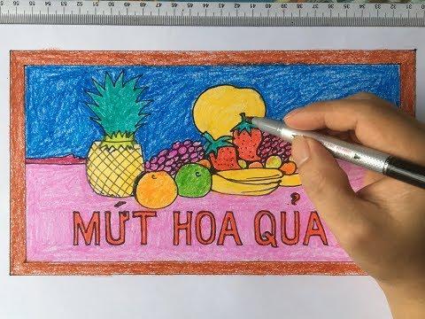 Vẽ vỏ hộp kẹo hoa quả (trang trí đồ vật có dạng hình chữ nhật)/Draw fruit candy box cover