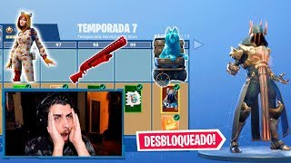 I PUT EL * NUEVO * PASO DE BATALLA EN CATEGORIA 100! -FORTNITE TEMPORADA 7