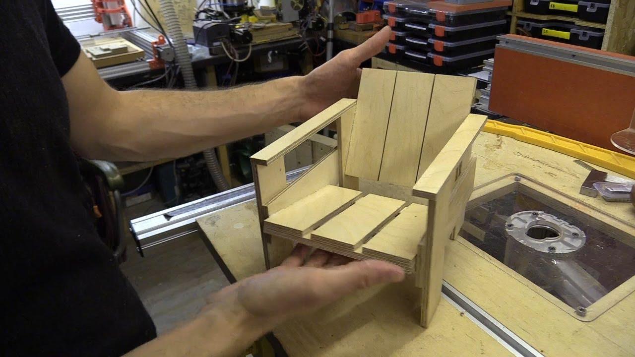 Miniatuur Rietveld Stoel : Mini rietveld easy crate chair youtube