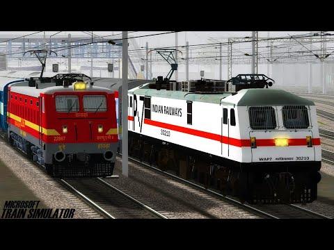 Sealdah - New Delhi Rajdhani Express | GZB WAP7 | MSTS Open Rails Journey Part 1