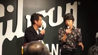 Gibson Brands Showroom TOKYOプレス発表会で行われた、ギブソンギター...