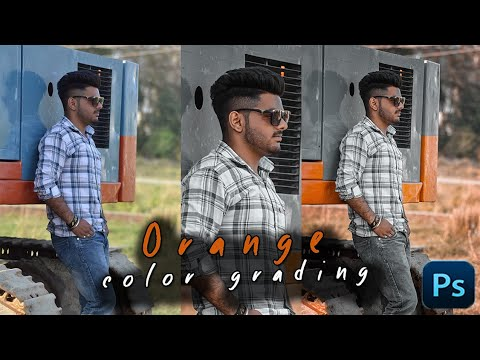 Orange & Grey Color Grading Effect in Photoshop | Photoshop Tutorial (2019) thumbnail