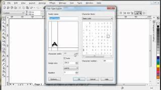 CorelDraw - Create Font
