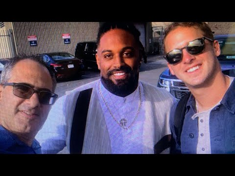 Jared Goff, Cameron Jordan, Mike Silver - Cal Legends Meet After L.A. Rams Win Over Saints