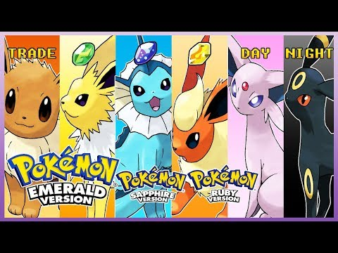 Pokemon Emerald/Ruby/Sapphire - How To Get Eevee Using Trade & Evolve It!