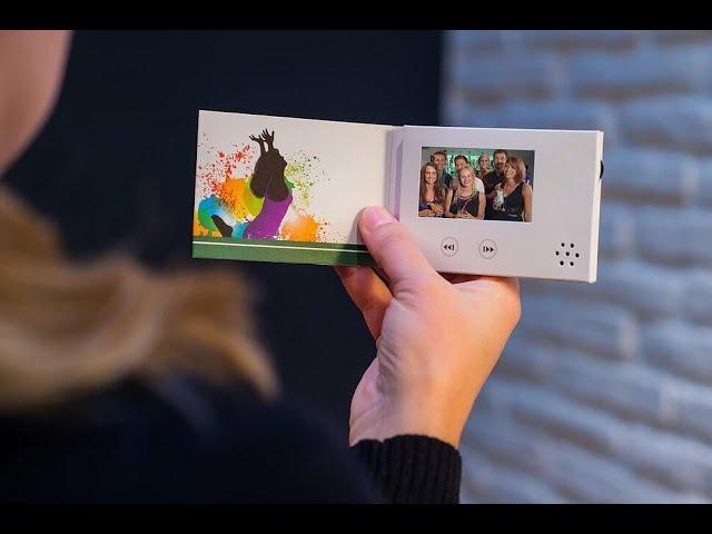 Portable 2.4'' Mini Screen Video Business Card VBC-024M