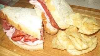 Spicy Capicola/ham Off The Bone On Garlic Tuscan Bread - Best Sandwich Ever - Video - 138