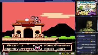 The Flintstones: The Rescue of Dino & Hoppy прохождение 100% | Игра на (Dendy, Nes, 8 bit) Стрим RUS
