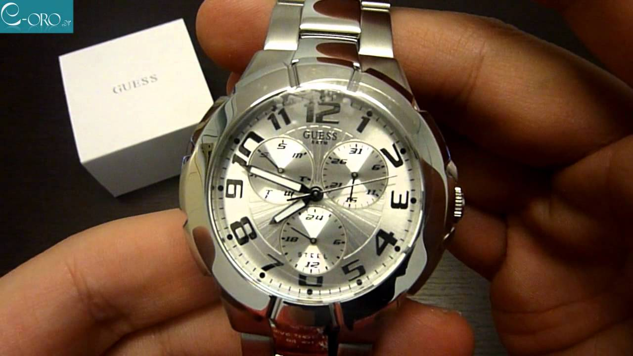 0eb2f944856b GUESS Stainless Steel Mens Watch I90199G1 - E-oro.gr - YouTube
