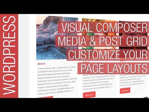 Wordpress Visual Composer Media & Post Grid Tutorial - 동영상