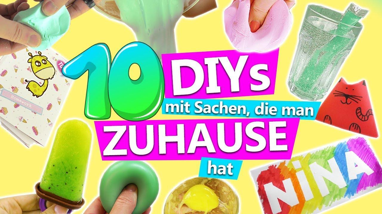 10 DIY IDEEN mit SACHEN, die man ZUHAUSE hat! | Ideen gegen ...