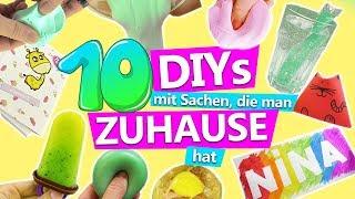 10 DIY IDEEN mit SACHEN, die man ZUHAUSE hat! | Ideen gegen Langeweile zuhause | DIY Kids Club