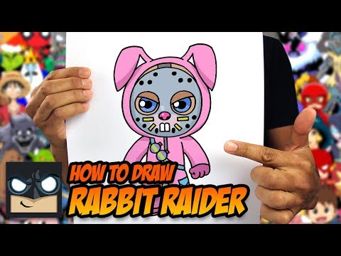 How To Draw Fortnite | Rabbit Raider | Step By Step Tutorial