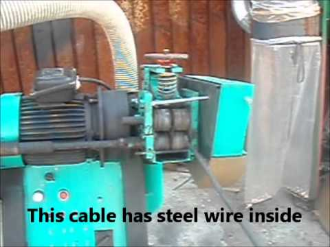 Cable Wires Recycling Machine - AUTOMATIC cuts and separates ...
