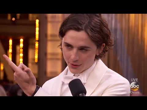 Best Actor nominee Timothée Chalamet brought his mom to the Oscars