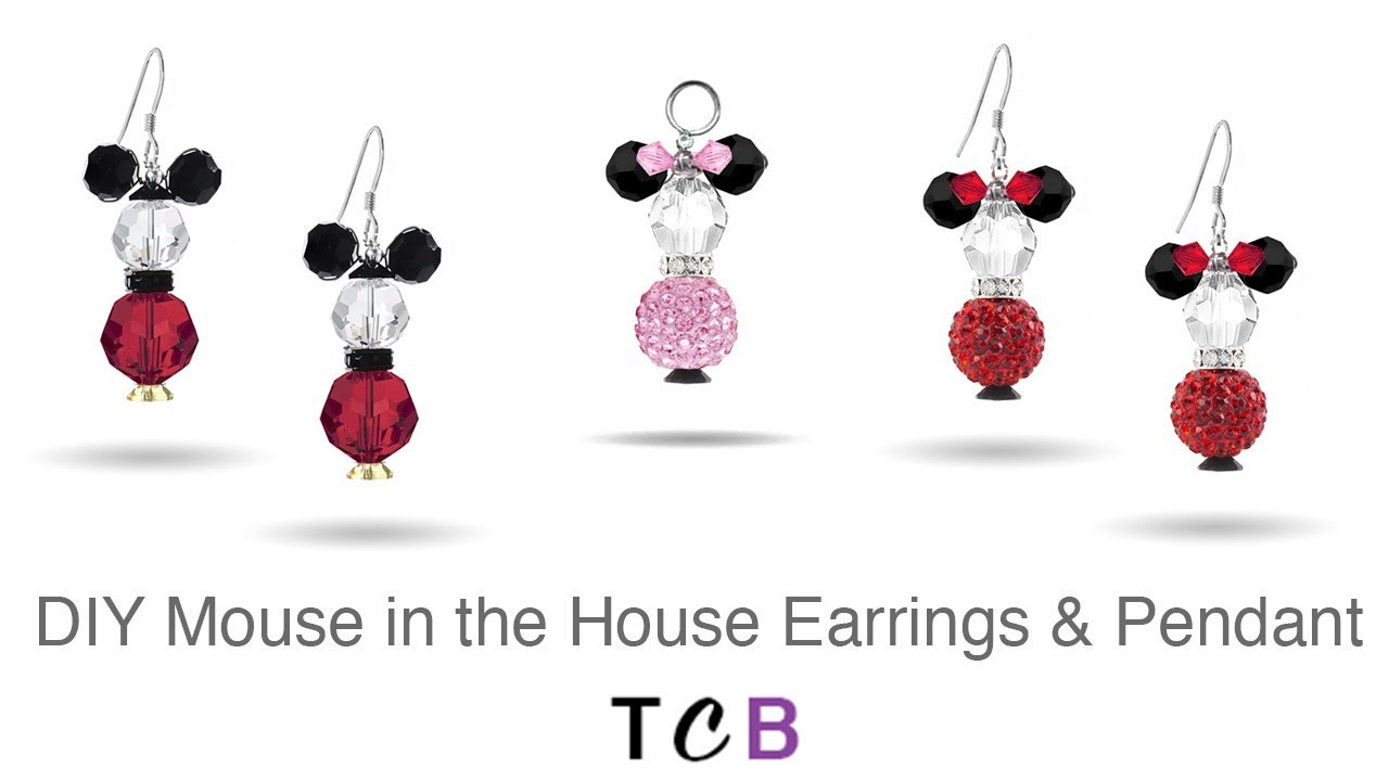 6d5c90951 Mouse in the House Earrings and Pendant | Too Cute Beads - YouTube